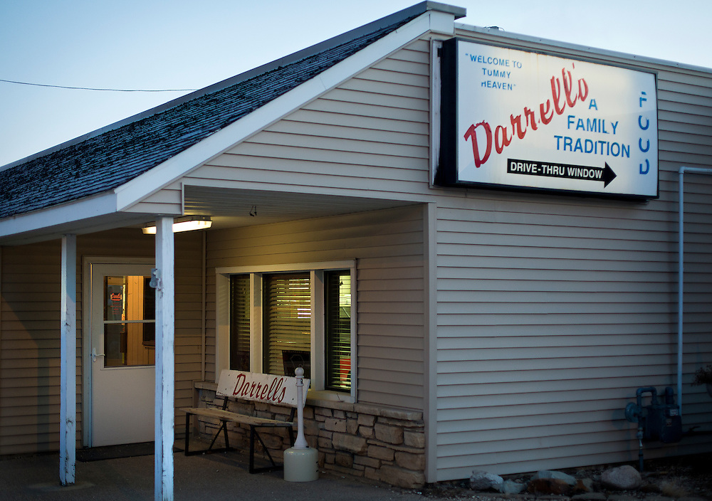 MONTICELLO, IA – JANUARY 6: The front entrance to Darrell's in Monticello, Iowa around 7:00am on January 6, 2017.