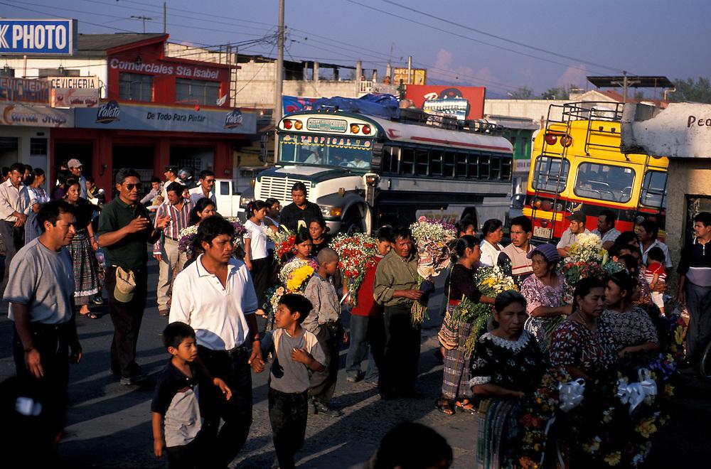 Procession Chimaltenango, Guatemala, Central America