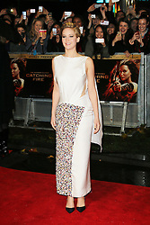 © Licensed to London News Pictures. 11/11/2013. Jennifer Lawrence attending The Hunger Games: Catching Fire - World film premiere in Leicester Square, London, UK on 11 November 2013 Photo credit : Richard Goldschmidt/Piqtured/LNP