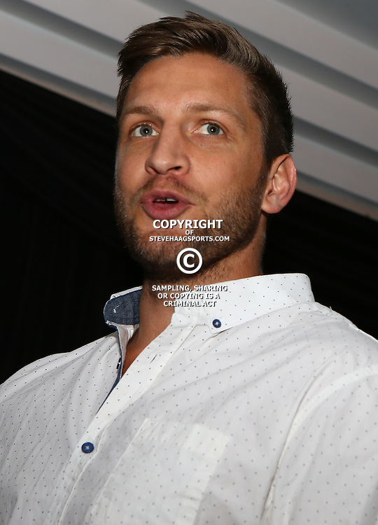 DURBAN, SOUTH AFRICA, December 3 2015 - Christopher Ian Micklewood is a former rugby union player during The Cell C Sharks Official Launch and unveiling of The Cell C Sharks Super Rugby Jersey at Growthpoint Kings Park in Durban, South Africa. (Photo by Steve Haag)<br /> images for social media must have consent from Steve Haag