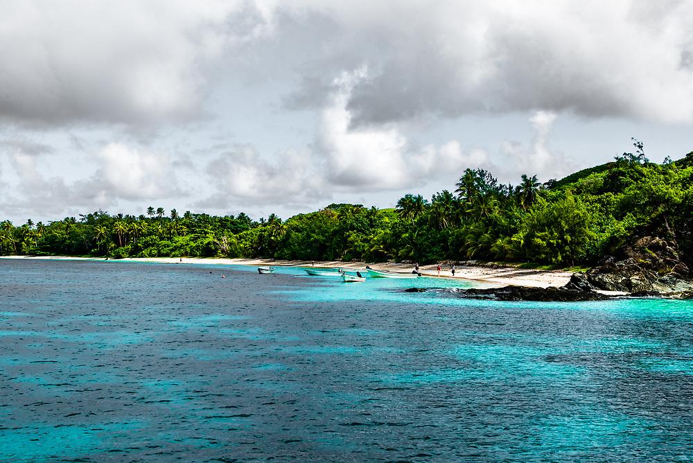A beach on Yasawa-I-Rara, part of the Fiji Islands.