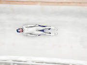 LILLEHAMMER, NORWAY - FEBRUARY 1994:  Georg Hackl of Germany competes in the Men's Singles Luge event of the 1994 Winter Olympics at the Lillehammer Olympic Bobsleigh and Luge Track near Lillehammer, Norway.  Hackl was the Gold Medalist in the event.  (Photo by David Madison/Getty Images)