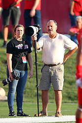 03 September 2016:  Dennis and Becky? Banks. NCAA FCS Football game between Valparaiso Crusaders and Illinois State Redbirds at Hancock Stadium in Normal IL (Photo by Alan Look)