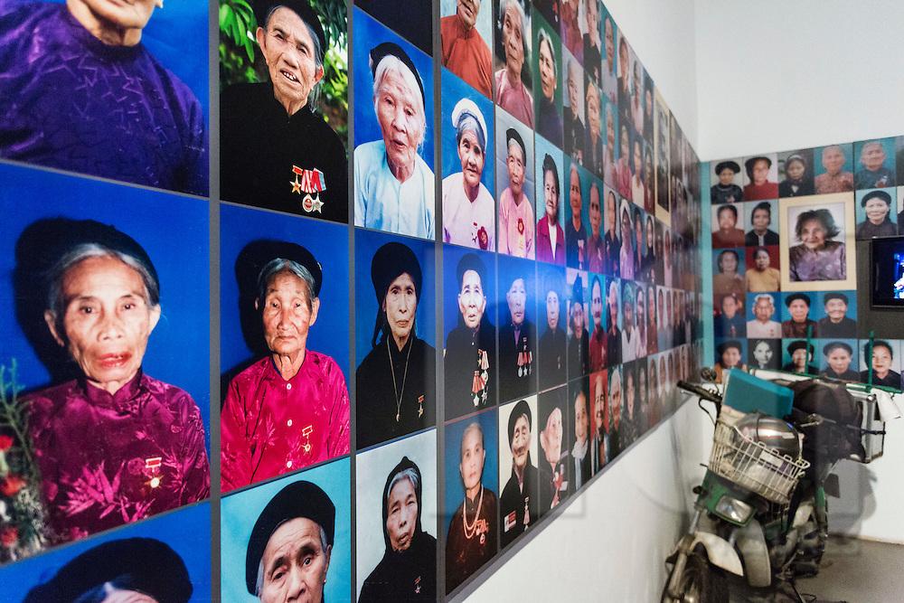 """heroic mothers of Vietnam"" panel, Vietnamese Women's Museum, Hanoi, Vietnam, Southeast Asia"