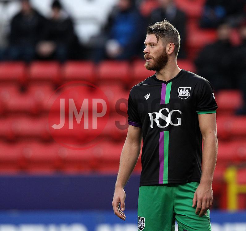 Nathan Baker of Bristol City - Mandatory byline: Robbie Stephenson/JMP - 06/02/2016 - FOOTBALL - The Valley - Charlton, England - Charlton Athletic v Bristol City - Sky Bet Championship