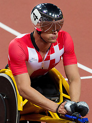 Marcel Hug of Switzerland competes during Men's 400m - T54 Round 1 Heat 3 athletics competition during Day 8 of the Summer Paralympic Games London 2012 on September 5, 2012, in  Olympics stadium, London, Great Britain. (Photo by Vid Ponikvar / Sportida.com)