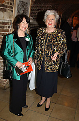 Left to right, MRS TOBY JESSEL chairman of the event and BARONESS BOOTHROYD at the annual House of Lords & House of Commons Parliamentary Palace of Varieties at St.John's Smith Square, London on 27th January 2005.<br /><br />NON EXCLUSIVE - WORLD RIGHTS