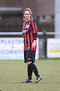 Charlotte Gurr during the Women's FA Cup match between Watford Ladies FC and Brighton Ladies at the Broadwater Stadium, Berkhampstead, United Kingdom on 1 February 2015. Photo by Stuart Butcher.
