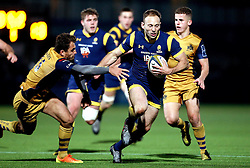 Chris Pennell (capt) of Worcester Warriors runs with the ball - Mandatory by-line: Robbie Stephenson/JMP - 04/11/2016 - RUGBY - Sixways Stadium - Worcester, England - Worcester Warriors v Bristol Rugby - Anglo Welsh Cup