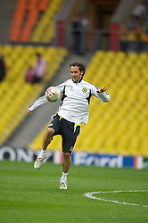 MOSCOW, RUSSIA - Tuesday, May 20, 2008: Chelsea's Ricardo Carvalho during training ahead of the UEFA Champions League Final against Manchester United at the Luzhniki Stadium. (Photo by David Rawcliffe/Propaganda)
