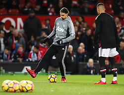 Zlatan Ibrahimovic of Manchester United warms up - Mandatory by-line: Matt McNulty/JMP - 18/11/2017 - FOOTBALL - Old Trafford - Manchester, England - Manchester United v Newcastle United - Premier League