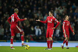 BLACKBURN, ENGLAND - Wednesday, January 5, 2011: Liverpool's Fernando Torres looks dejected after Blackburn Rovers score the opening goal during the Premiership match at Ewood Park. (Pic by: David Rawcliffe/Propaganda)