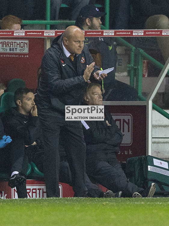 Hibernian FC v Dundee Utd FC<br /> <br /> Mixu Paatelainen (Dundee United Manager) during the Quarter Final of the Scottish League Cup match between Hibernian and Dundee Utd FC at Easter Road Stadium on Wednesday 4 November 2015.<br /> <br /> Picture Alan Rennie.