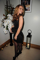 KIMBERLEY WALSH at the launch party for 'Promise', a new capsule ring collection created by Cheryl Cole and de Grisogono held at Nobu, Park Lane, London on 29th September 2010.