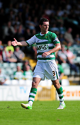Yeovil Town's captain Jamie McAllister - Photo mandatory by-line: Dougie Allward/Josephmeredith.com  - Tel: Mobile:07966 386802 01/09/2012 - SPORT - FOOTBALL - League 1 -  Yeovil  - Huish Park -  Yeovil Town v Doncaster Rovers