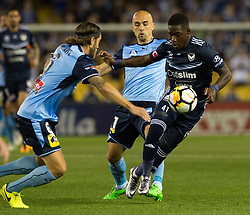 October 7, 2017 - Melbourne, Victoria, Australia - Thomas Deng (#14) of Melbourne Victory in action during the round 1 match between Melbourne Victory and Sydney FC at Etihad Stadium in Melbourne, Australia during the 2017/2018 Australian A-League season. (Credit Image: © Theo Karanikos via ZUMA Wire)