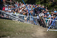 Aaron Gwinn (USA) on his downhill run at the 2018 UCI MTB World Championships - Lenzerheide, Switzerland