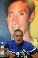 Photo: Rich Eaton.<br /> <br /> Cardiff City Press Conference. Coca Cola Championship. 24/07/2007. Robbie Fowler pictured on a banner at Ninian Park, where he was announed as a new signing by Cardiff City manager Dave Jones.