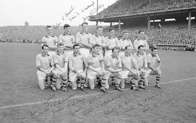 The Roscommon team before the All Ireland Senior Gaelic Football Championship Final Kerry v Roscommon in Croke Park on the 23rd September 1962. Kerry 1-12 Roscommon 1-6.<br />