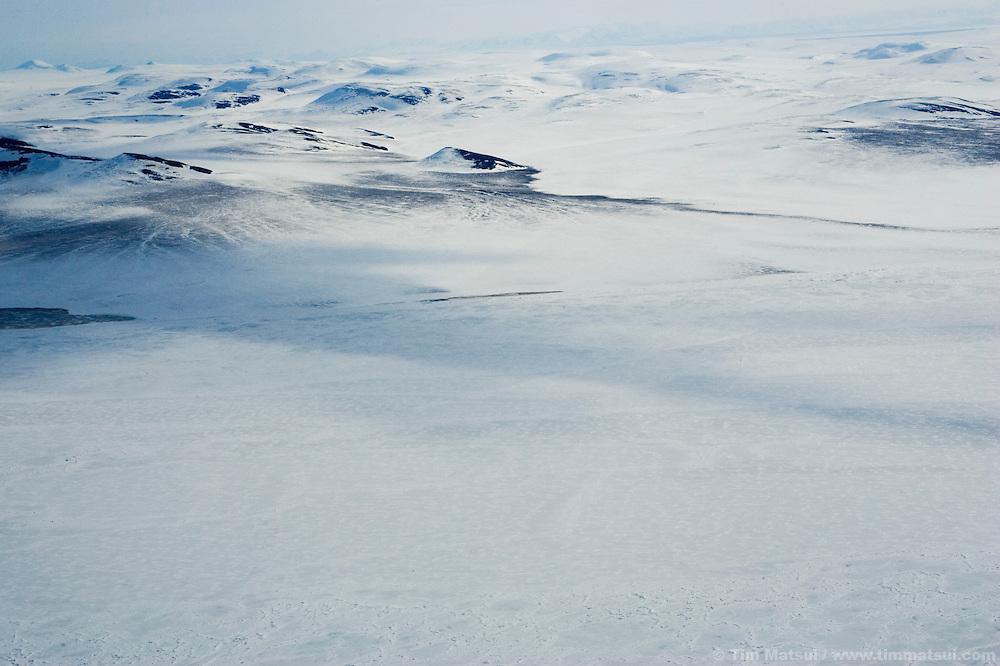 May 1, 2008 -- Kivalina, AK, U.S.A..Aerial view of the northeast coast of Alaska between Kotzebue and Kivalina. (Photo by Tim Matsui)