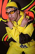 Man dressed as Ali G. Hard Dance night. Stomp, Fridge, Brixton, London, 2002