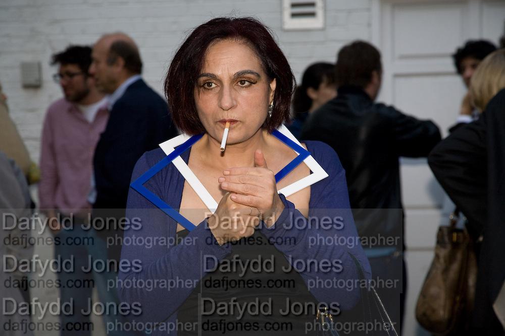 STELLA SAUTEECETTERIANE, Shooting Stars- Mat Collishaw. Haunch of Venison. London. 10 July 2008 *** Local Caption *** -DO NOT ARCHIVE-© Copyright Photograph by Dafydd Jones. 248 Clapham Rd. London SW9 0PZ. Tel 0207 820 0771. www.dafjones.com.