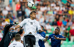 Kevin Akpoguma of Germany during the UEFA European Under-17 Championship Group A match between Germany and France on May 10, 2012 in SRC Stozice, Ljubljana, Slovenia. (Photo by Vid Ponikvar / Sportida.com)