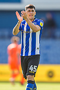 Fernando Forestieri (Sheffield) thanking the Sheffield Wednesday FC supporters (the Owls) following the EFL Sky Bet Championship match between Sheffield Wednesday and Ipswich Town at Hillsborough, Sheffield, England on 25 August 2018.