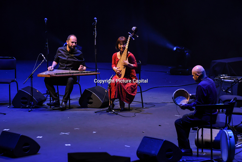 Tea House by Feras Charestan, Wu Man & Andrea Piccioni at the Jubilee - Master Musicians of the Aga Khan Music Initiative at the Royal Albert Hall, London, UK on June 20 2018.
