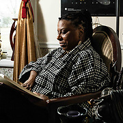 Former UD professor Arica Coleman read passages from her book &quot;That the Blood Stay Pure: African Americans, Native Americans&quot; at her home Wednesday. Feb. 27, 2019, in Newark, DE. <br /> <br /> Former UD professor was denied tenure. She believes it was discriminatory