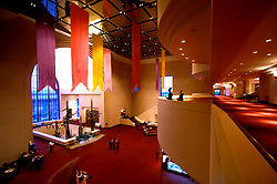 Stock photo of the interior of the Wortham Center in Houston Texas