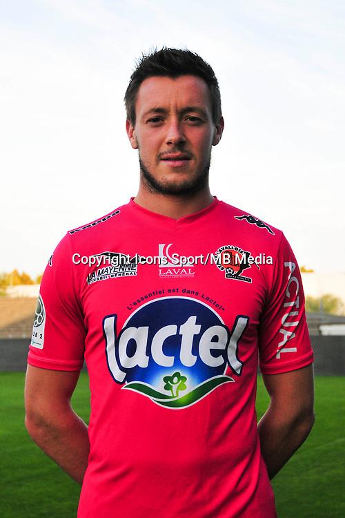 Maxime Hautbois - 17.09.2014 - Photo officielle Laval - Ligue 2 2014/2015<br /> Photo : Philippe Le Brech / Icon Sport
