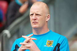 WIGAN, ENGLAND - Monday, May 3, 2010: Hull City's manager Iain Dowie during the Premiership match at DW Stadium. (Photo by David Rawcliffe/Propaganda)