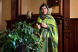Malala Yousafzai visits New York ahead of her speech at the United Nations, July 11, 2013. Yousafzai was shot in the head by the Taliban for promoting education for girls in Pakistan.