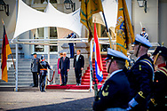 15/5/2018 THE HAGUE - King Willem-Alexander receives the Federal President of Germany, Frank-Walter Steinmeier, and his wife at Paleis Noordeinde, followed by an audience. The Federal President is in the Netherlands for two days for an official visit. COPYRIGHT ROBIN UTRECHT<br /> <br /> 15-5-2018 DEN HAAG - Koning Willem-Alexander ontvangt de bondspresident van Duitsland, Frank-Walter Steinmeier, en zijn echtgenote op Paleis Noordeinde, gevolgd door een audi&euml;ntie. De bondspresident is twee dagen in Nederland voor een officieel bezoek. COPYRIGHT ROBIN UTRECHT
