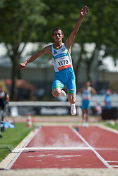IBROKHIMOV Abror, UZB, Triple Jump, T12, 2013 IPC Athletics World Championships, Lyon, France