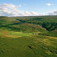 Öxará séð til suðvesturs, Þingeyjarsveit áður Ljósavatnshreppur / Oxara viewing southwest, Thingeyjarsveit former Ljosavatnshreppur.