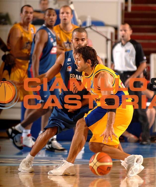 DESCRIZIONE : Belgrado Eurobasket Men 2005 Bosnia Herzegovina-Francia<br /> GIOCATORE : Mrsic<br /> SQUADRA : Bosnia Herzagovina<br /> EVENTO : Eurobasket Men 2005 Campionati Europei Uomini 2005<br /> GARA : Bosnia Herzagovina Francia France<br /> DATA : 17/09/2005<br /> CATEGORIA :<br /> SPORT : Pallacanestro<br /> AUTORE : Ciamillo&amp;Castoria/Fiba Europe Pool