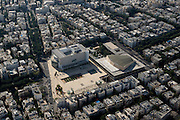 Aerial Photography of Tel Aviv, Israel Habimah square