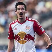 New York Red Bulls Midfielder SACHA KLJESTAN (16) celebrates a goal in the first half of a Major League Soccer match between the Philadelphia Union and New York Red Bulls Sunday, July. 17, 2016 at Talen Energy Stadium in Chester, PA.