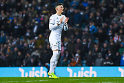 Leeds United defender Ben White (5) during the EFL Sky Bet Championship match between Leeds United and Queens Park Rangers at Elland Road, Leeds, England on 2 November 2019.
