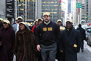 20 February 2009 NY, NY -l to r: NAACP- Hazel Dukes and Ben Jealous(CEO) at Day 2 of New York Post Protest by Rev. Al Sharpton and The National Network against offensive cartoon depicting dead Chimpanzee as President Obama.