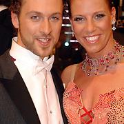 NLD/Baarn/20070331 - 1e Live uitzending Dancing with the Stars 2007, Christophe Haddad en danspartner Ilse Lans