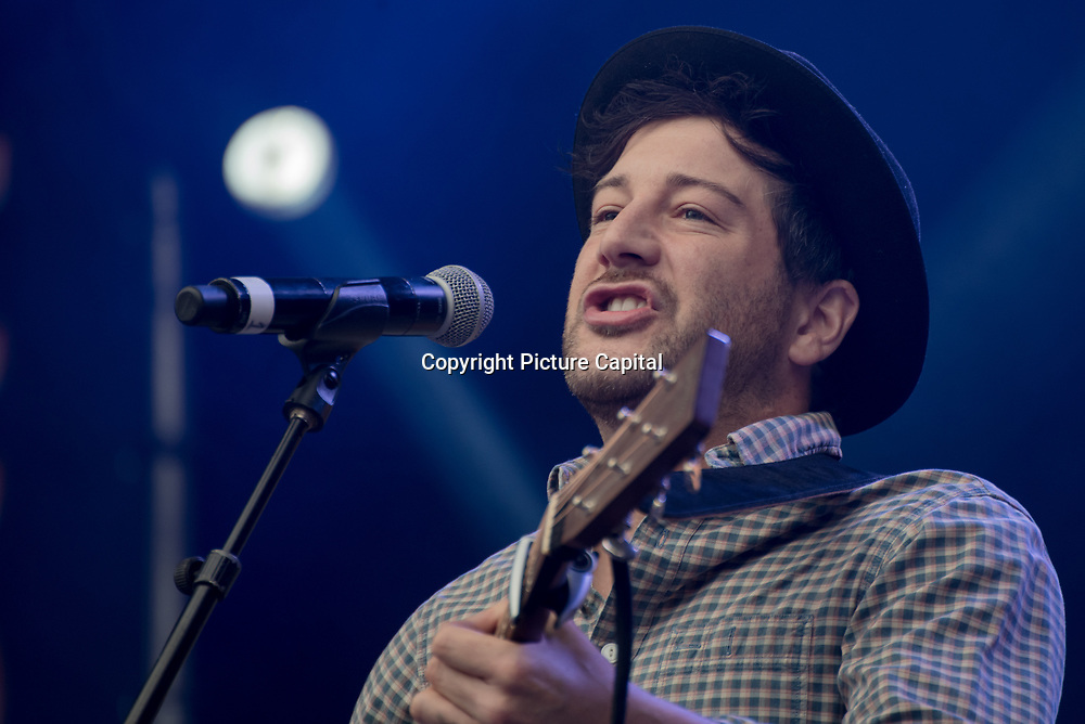 Matt Cardle on stage at West End Live on June 16 2018  in Trafalgar Square, London.