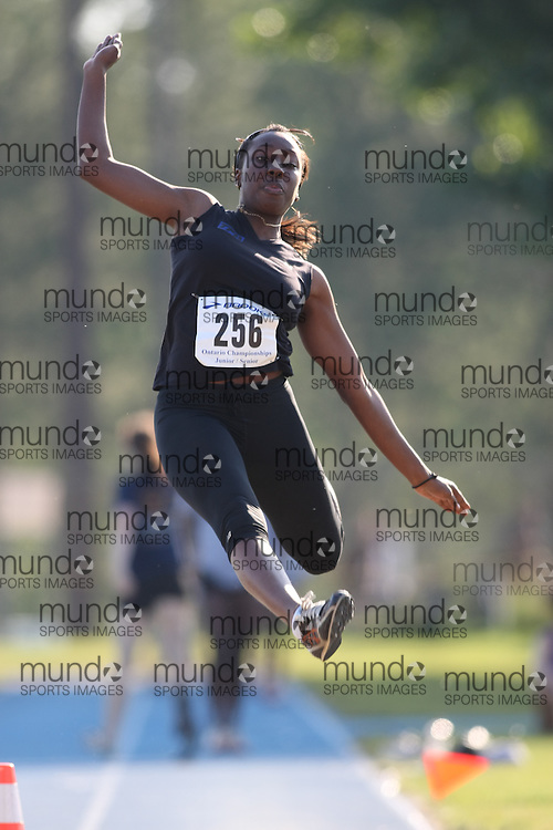 "(Ottawa, Ontario---20080621) ""Smith, Alicia of Take Flight Athletics"" competing in the  at Supermeet I, the 2008 Ontario Track and Field Association (OTFA) Junior/Senior Track and Field Championships. This image is copyright Sean W. Burges, and the photographer can be contacted at seanburges@yahoo.com."