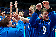 Katowice, Poland - 2017 September 03: Trainer coach SO Finland Eija Helander Nieminen celebrates with her team while final match between SO Russia and SO Finland during European Unified Volleyball Tournament 2017 at Spodek Hall on September 03, 2017 in Katowice, Poland.<br /> <br /> Adam Nurkiewicz declares that he has no rights to the image of people at the photographs of his authorship.<br /> <br /> Picture also available in RAW (NEF) or TIFF format on special request.<br /> <br /> Any editorial, commercial or promotional use requires written permission from the author of image.<br /> <br /> Image can be used in the press when the method of use and the signature does not hurt people on the picture.<br /> <br /> Mandatory credit:<br /> Photo by © Adam Nurkiewicz / Mediasport