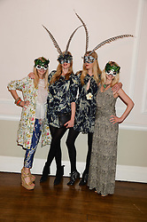 Left to right, RUTH POWYS, DANIELA FELDER and ANNETTE FELDER and MARY POWYS  at the The Animal Ball – Masking Up Moment held at the Quintessentially Ballrooms, 29 Portland Place, London W1 on 10th June 2013.