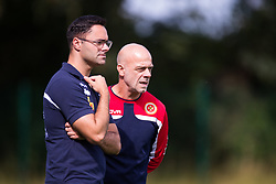 WREXHAM, WALES - Thursday, August 15, 2019: Malta's Under-15 head coach Paul Gatt during the UEFA Under-15's Development Tournament match between Cyprus and Malta at Colliers Park. (Pic by Paul Greenwood/Propaganda)