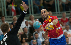 10.06.2015, Olympiahalle, Innsbruck, AUT, EHF Euro Qualifikation, Gruppe 7, Österreich vs Spanien, im Bild Albert Rocas Comas (ESP) // during the EHF Euro Qualifikation group 7 match between Austria and Spain at Olympiahalle, Innsbruck, Austria on 2015/06/10. EXPA Pictures © 2015, PhotoCredit: EXPA/ Jakob Gruber