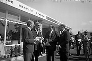09/08/1967<br /> 08/09/1967<br /> 09 August 1967<br /> Opening of Esso service station at Dean's Grange, Dublin. The site was originally a sculptures yard was a 2-bay service station with the latest equipment. It was to be a 24 hours station and a 5-minute Car Wash and Electronic Tuning was available. Group at the opening.